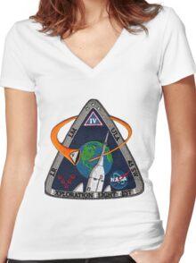 Exploration Flight Test 1 USAF Logo Women's Fitted V-Neck T-Shirt