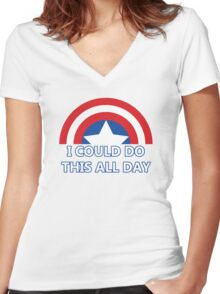 All Day Women's Fitted V-Neck T-Shirt
