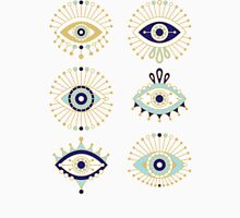 Evil Eye Collection on White Unisex T-Shirt