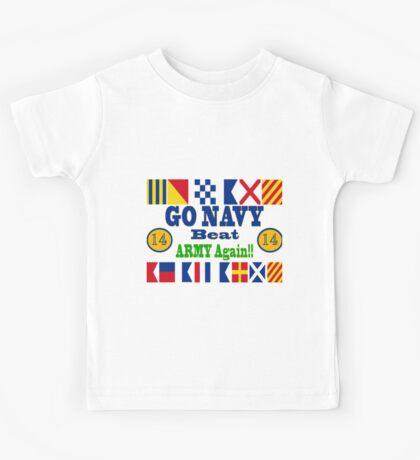 Go Navy Beat Army Again Kids Tee