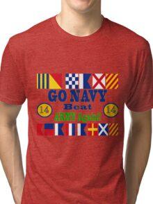 Go Navy Beat Army Again Tri-blend T-Shirt