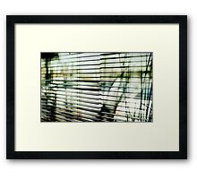 striped world no less beautiful Framed Print