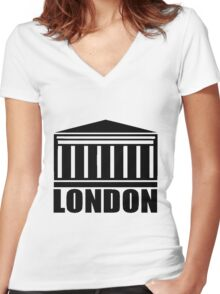 LONDON-ROYAL EXCHANGE Women's Fitted V-Neck T-Shirt