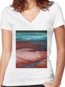 Alien World Women's Fitted V-Neck T-Shirt