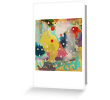 Abstract Art Chaos Contemporary Modern Art Greeting Card