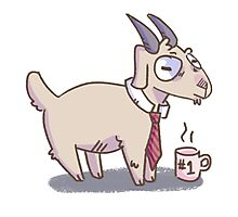Business Goat Photographic Print