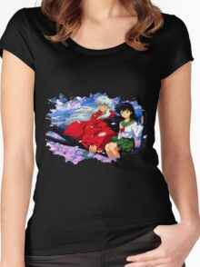 Inuyasha x Kagome Women's Fitted Scoop T-Shirt
