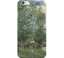 Alfred Sisley - Cows in Pasture, Louveciennes 1874  Impressionism  Landscape  iPhone Case/Skin