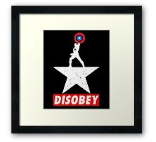 Captain USA Disobey Framed Print