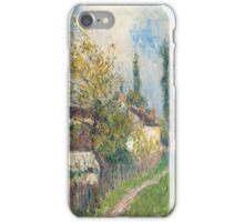 Alfred Sisley -A path at Les Sablons  French Impressionism Landscape iPhone Case/Skin