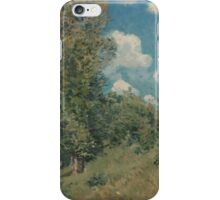 Alfred Sisley - The Road from Versailles to Saint-Germain  French Impressionism Landscape iPhone Case/Skin