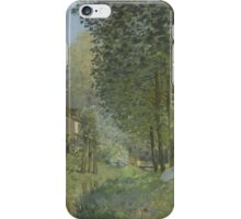 Alfred Sisley - Rest along the Stream. Edge of the Wood  Impressionism  Landscape  iPhone Case/Skin