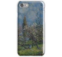 Alfred Sisley - Orchard in Spring  Impressionism  Landscape  iPhone Case/Skin