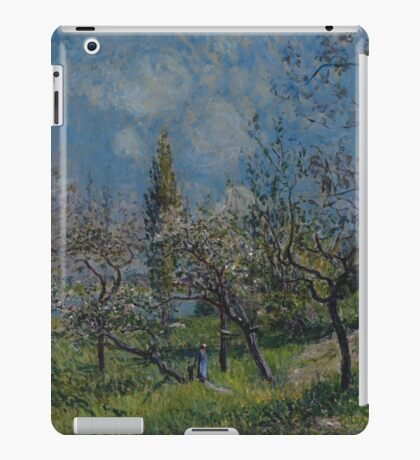Alfred Sisley - Orchard in Spring  Impressionism  Landscape  iPad Case/Skin