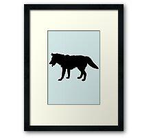 A wolf Framed Print