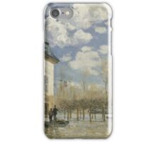 Alfred Sisley - Boat in the Flood at Port Marly 1876  Impressionism  Landscape  iPhone Case/Skin