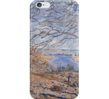 Alfred Sisley - Banks of the Loing - Autumn Effect Impressionism  Landscape  iPhone Case/Skin