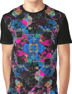 Stylized Geometric Floral Ornate Graphic T-Shirt
