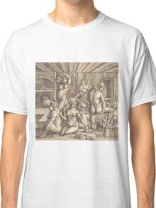 Albrecht Durer  - Women s Bath  1505-1510 Woman Portrait Fashion Classic T-Shirt