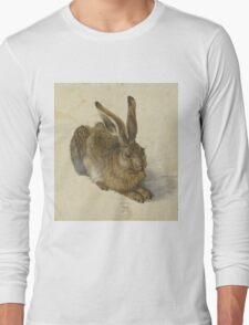 Albrecht Durer  - Hare 1502  Portrait Fashion Long Sleeve T-Shirt
