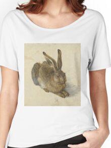 Albrecht Durer  - Hare 1502  Portrait Fashion Women's Relaxed Fit T-Shirt