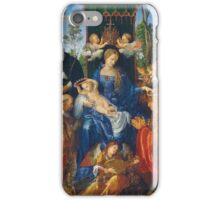 Albrecht Durer  - Feast of Rose Garlands 1506 Woman Portrait Fashion iPhone Case/Skin