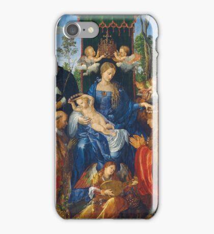 Albrecht Durer  - Feast of Rose Garlands 1506 Woman Portrait Fashion iPhone Case/Skin