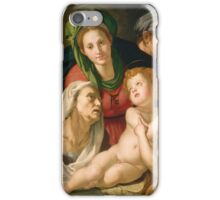 Agnolo Bronzino - The Holy Family  1527-1528 iPhone Case/Skin