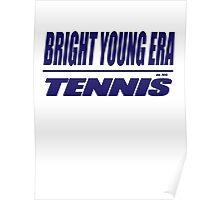bright young era tennis (blue) Poster