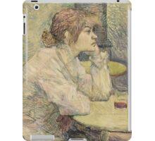 Henri de Toulouse-Lautrec  - The Hangover (Suzanne Valadon) (1887 - 1889)Woman Portrait iPad Case/Skin