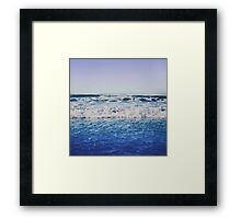 Indigo Waves Framed Print