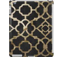 Gold and Black Arabesque iPad Case/Skin