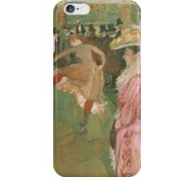 Henri de Toulouse-Lautrec  - At the Moulin Rouge The Dance (1890)Woman Portrait Fashion iPhone Case/Skin