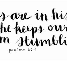 Psalms 66:9 Bible Verse | Hand Lettered Psalms  Sticker