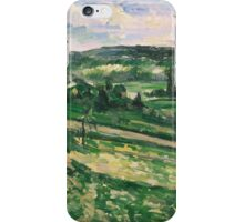 Paul Cezanne - The Tree by the Bend 1881 - 1882 Impressionism  Landscape iPhone Case/Skin