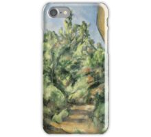 Paul Cezanne - The Red Rock  1895 Impressionism  Landscape iPhone Case/Skin