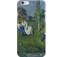 Paul Cezanne - The Pond 1877 - 1879 Impressionism  Landscape Romance iPhone Case/Skin