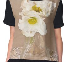 Bottled Begonia Flowers  Chiffon Top