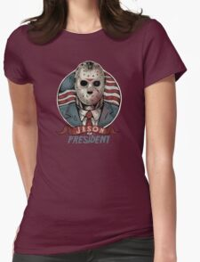 Jason For President Womens Fitted T-Shirt