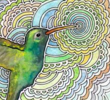 Hummingbird Drawing Meditation Sticker