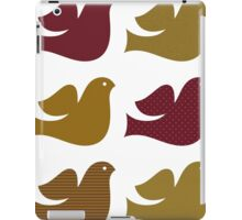 Stylized textured Doves collection - Brown iPad Case/Skin