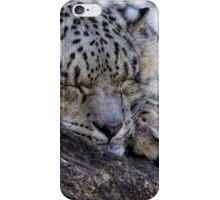 Sleeping Snow Leopard iPhone Case/Skin