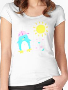 Penny Penguin! Women's Fitted Scoop T-Shirt