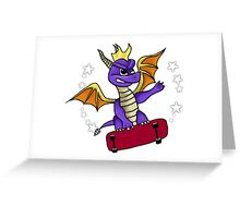 Skateboard Spyro Greeting Card