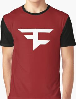 Faze Clan | White Logo | Red Background | High Quality! Graphic T-Shirt