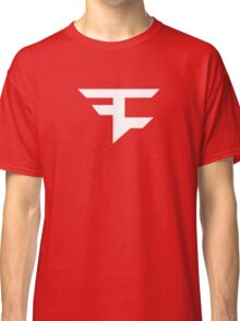 Faze Clan | White Logo | Red Background | High Quality! Classic T-Shirt