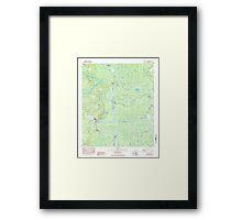 USGS TOPO Map Alabama AL Bilbo Island 331455 1983 24000 Framed Print
