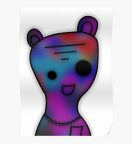 Galaxy Gummy Bear Poster
