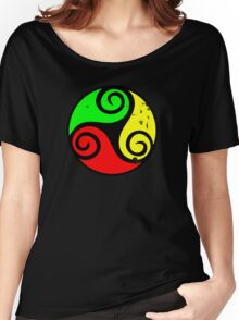 Reggae Flag Chilling Vibes - Cool Reggae Flag Colors Gifts Women's Relaxed Fit T-Shirt