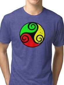 Reggae Flag Chilling Vibes - Cool Reggae Flag Colors Gifts Tri-blend T-Shirt